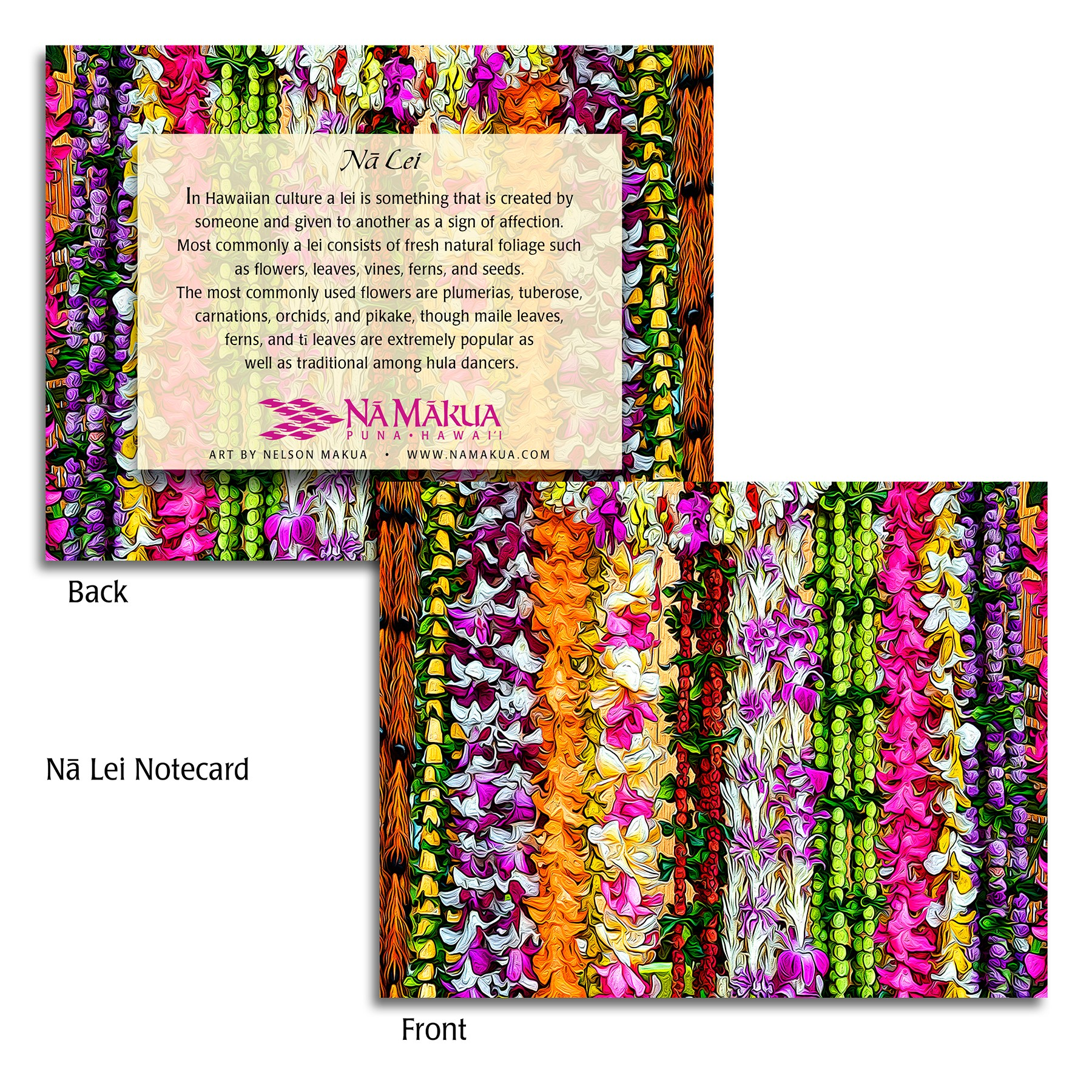 Na Lei Note Cards - Small