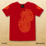 Monstera Vneck Tops - Red