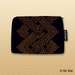 Kapa O Ka 'Aina Cosmetic Bag - Black & Brown