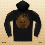 Pueo Zipper Hooded Jacket