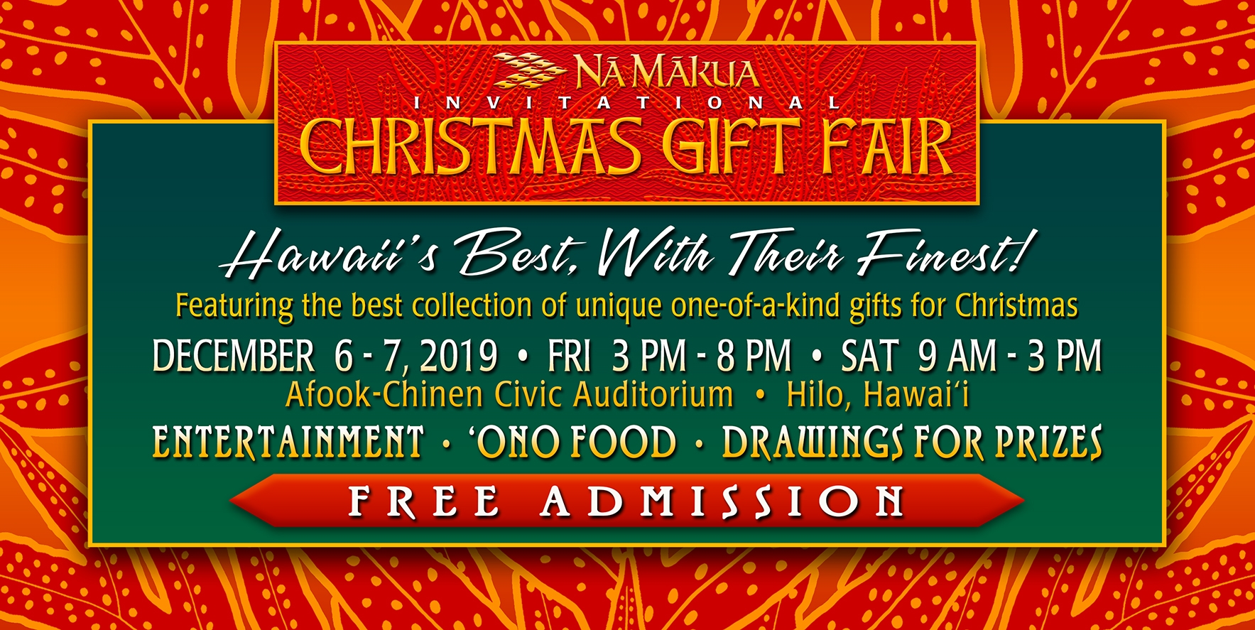 Na Makua 2019 Christmas Fair Homepage
