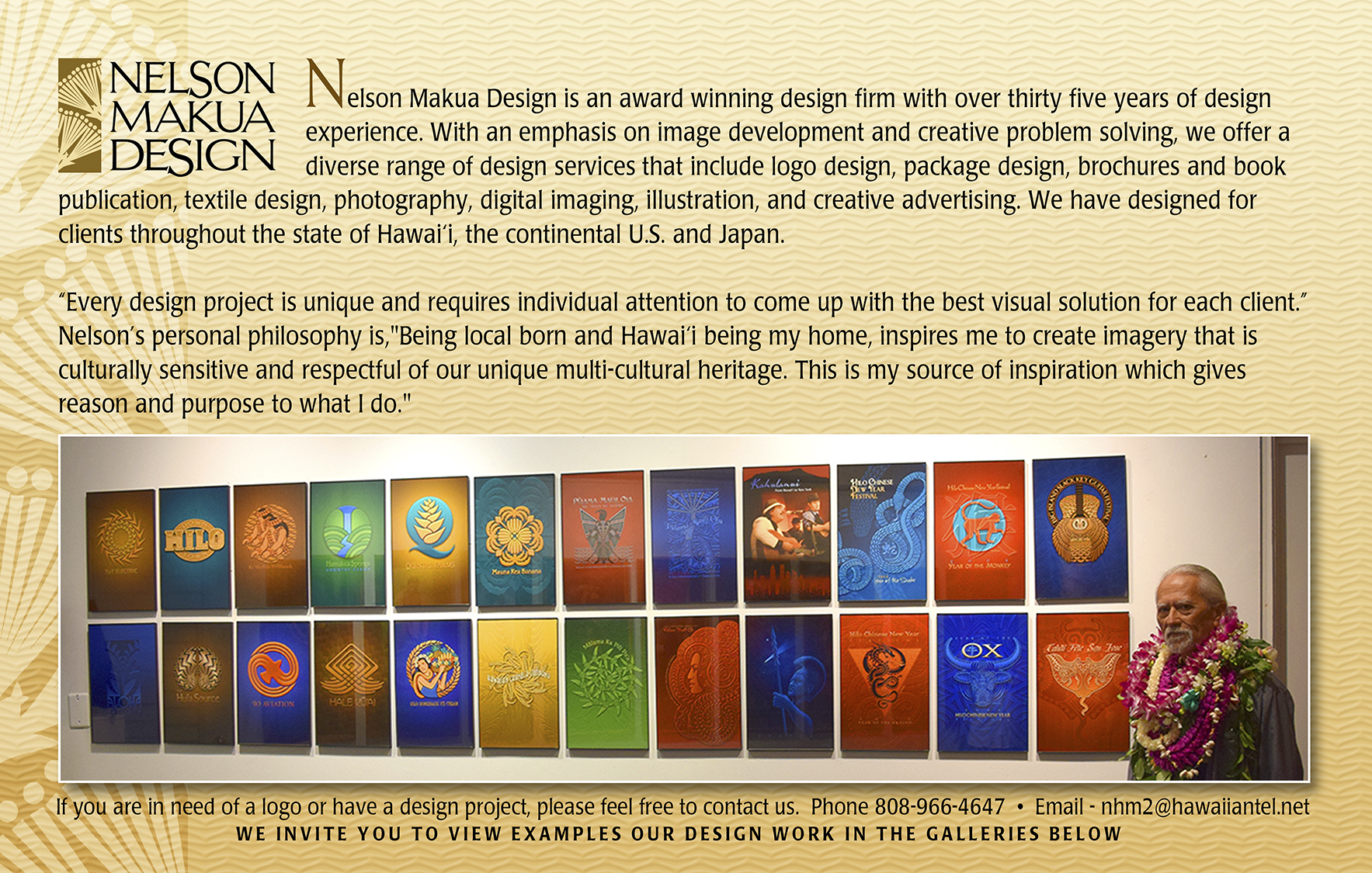 Nelson Makua Design Index Page