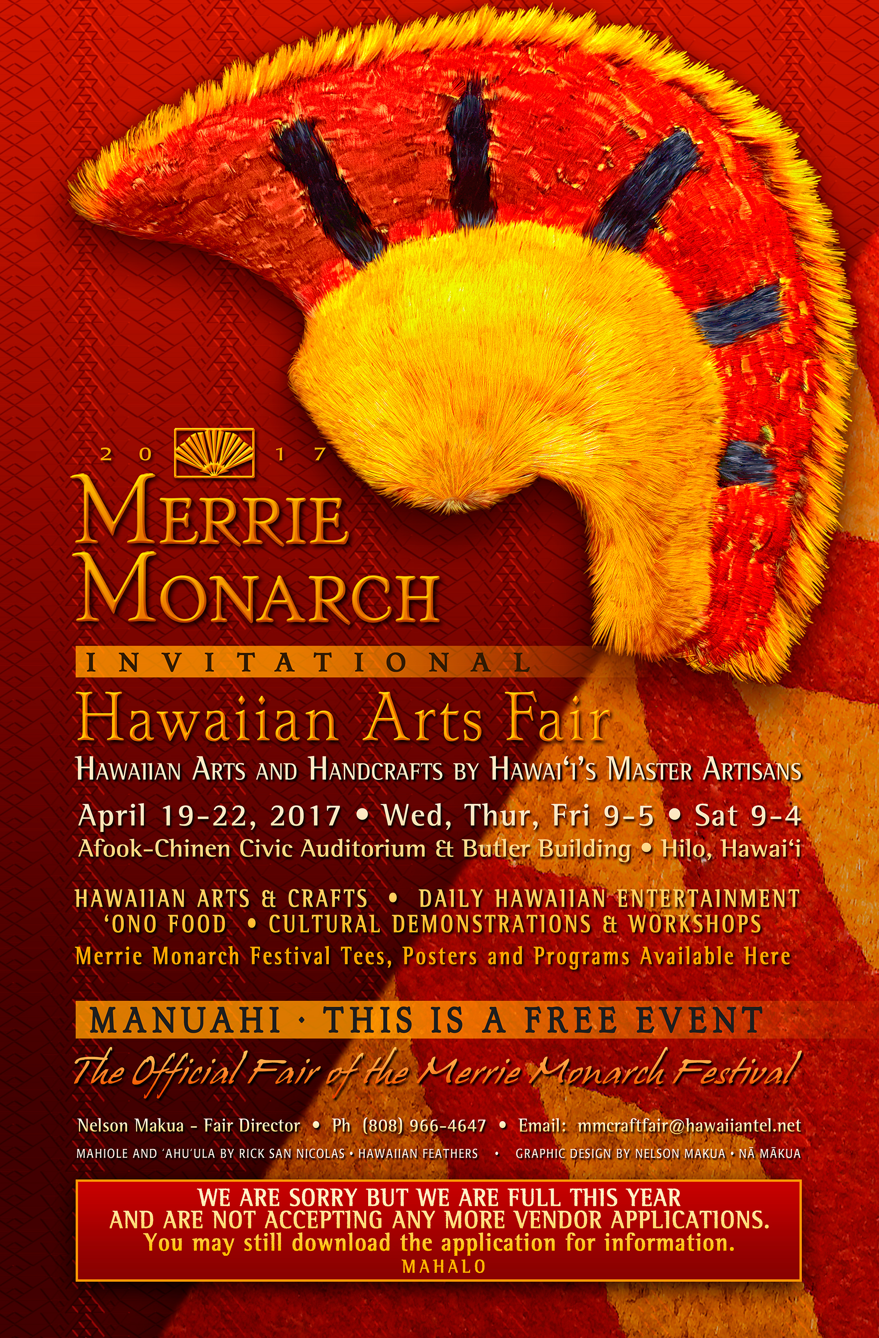 2017 MM Hawaiian Arts Fair Poster