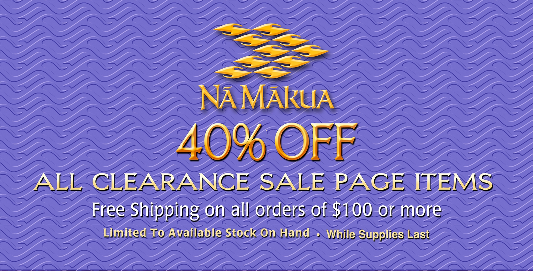 40% Off Clearance Sale Homepage