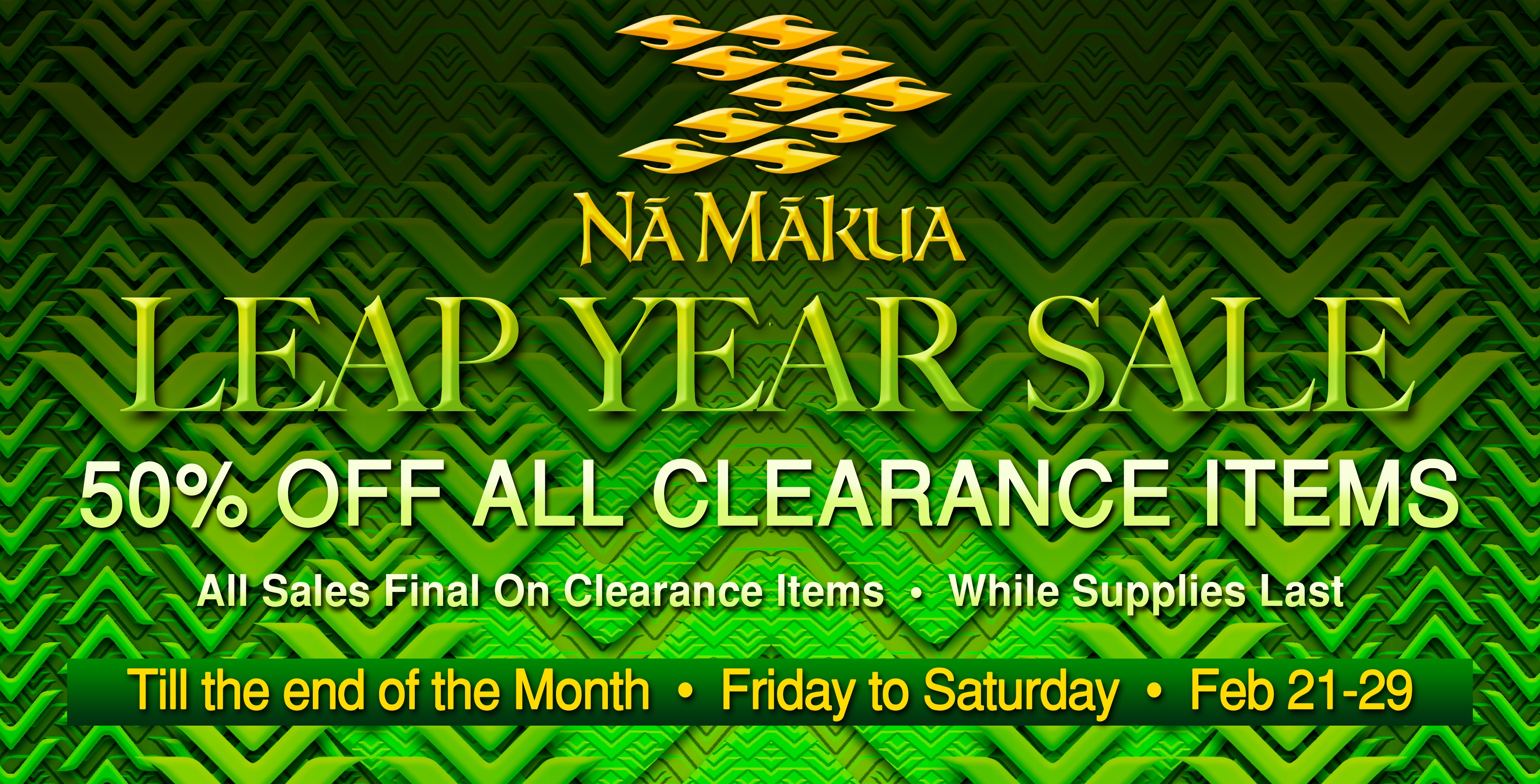 Leap Year Sale Homepage