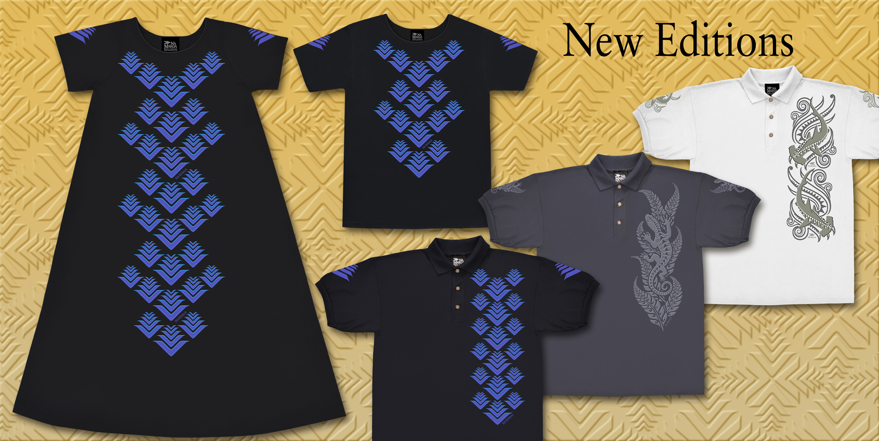 New Na Makua Laua'e Kapala Dress, Polo & Scoop Top