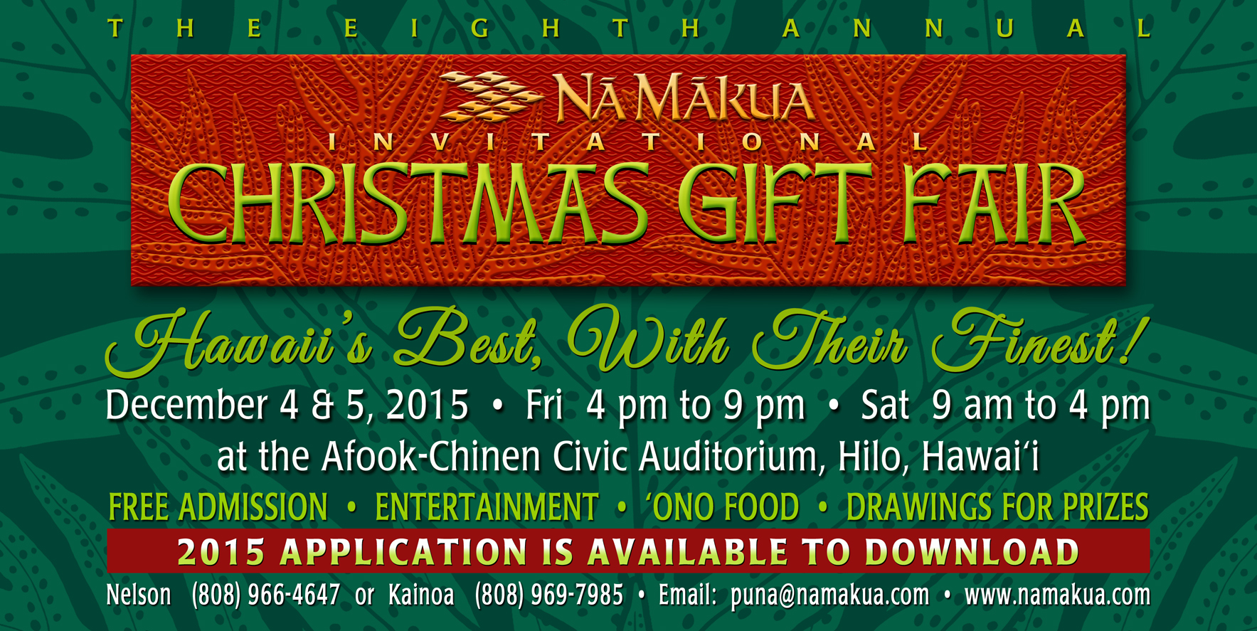 Na Makua X-mas Fair Home Page