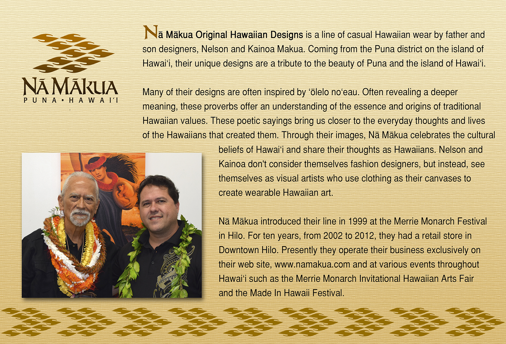 Na Makua Custom Designs Index Page